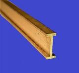 Messing H Profil, ungleichseitig gefräst, 6,0 x 2,0 mm, (2,0 hoch)