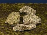 Diorama Zubehör, colorierte Felsen- Plattenn, Granit