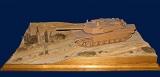 Diorama Grundplatte, Sandweg am Wüstenrand, 49x30cm, 1:35