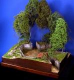 Diorama Grundplatte 49/1 Panzerstellung , 30 x 25 cm, 1:35