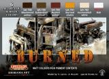 Burned Matt Colours Set, high pigment content