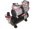 Airbrush Hobby Zweikolben Kompressor, AS-196 mit 3,5L Druckbehälter