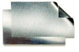 Stahl Weißblech verzinnt seidenmatt 272x450 mm, 0,17 mm
