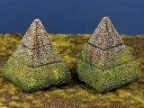Diorama Zubehör, Beton Panzersperren, Pyramidenstil, 1:16/18