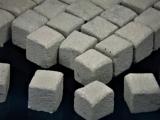 150 Keramik Pflastersteine granit 12 mm quadratisch, 1:9