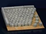 150 Keramik Pflastersteine granit 8 mm quadratisch, 1:9