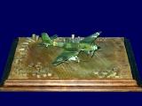 Diorama Grundplatte 97, PSP Stahlblech Flugzeugstellfläche, 1:72