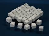 600 Keramik Pflastersteine granit 12 mm quadratig, 1:9