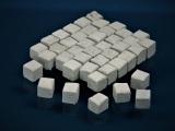 150 Keramik Pflastersteine granit 12 mm quadratisch, 1:16 / 18