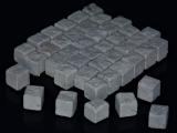 600 Keramik Pflastersteine granit 12 mm quadratisch, 1:16/18