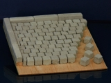 300 Keramik Pflastersteine granit 8 mm quadratig, 1:16/18