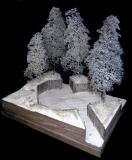 Diorama Grundplatte 50 Panzerstellung , 30 x 25 cm, 1:35,