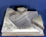 Diorama Grundplatte 49/5 Panzerstellung, 30 x 25 cm, 1:35
