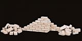 1.000 Keramik Ziegelsteine kalkweiss 1:16
