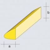2 Balsa Nasenleisten Normalprofil, 6 x 9 mm (a/b), 1.000 mm
