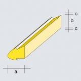 2 Balsa Nasenleisten Normalprofil 2 Falze, 14 x 13 x 1 mm (a/b/c)