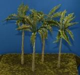 Diorama Zubehör, 4 colorierte Palmen, ca. 250 mm